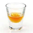 Shot glass with tasting sample