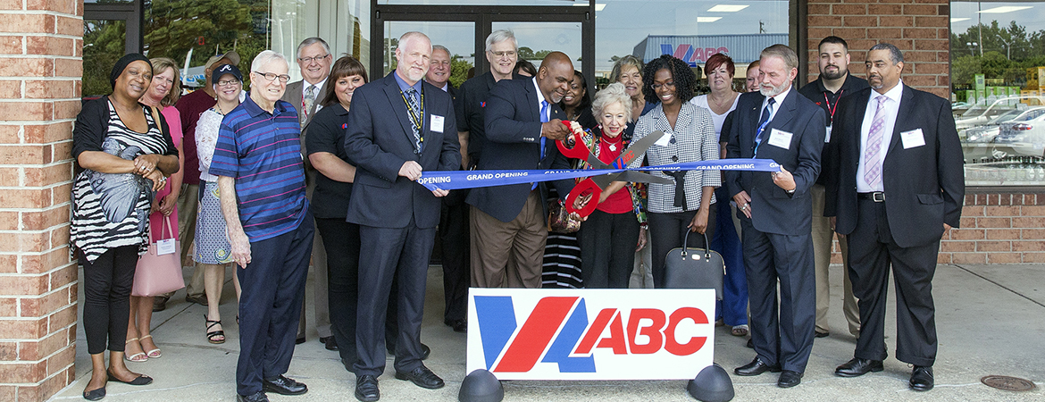 Ribbon cutting for opening of Virginia ABC