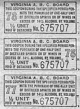 ABC ration tickets during WWII