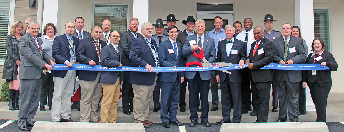 Virginia ABC staff cut the ribbon on a new enforcement regional office in the Staunton area.