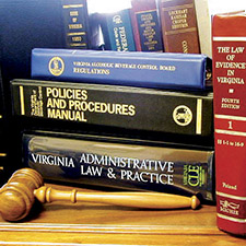 Virginia ABC hearings and law books