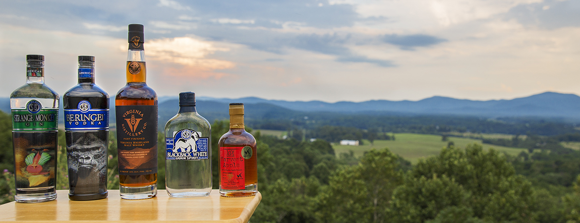 Spirits distilled in Nelson County, Virginia