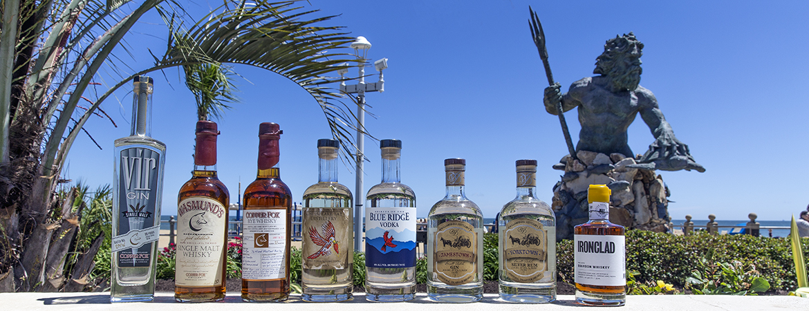Products made by distilleries of the Chesapeake