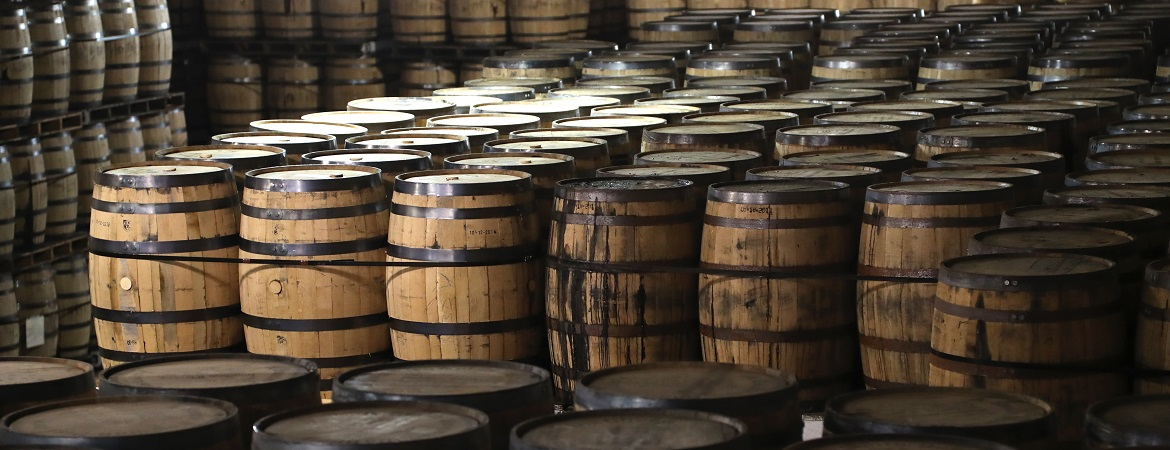 Bourbon Barrels at A. Smith Bowman Distillery