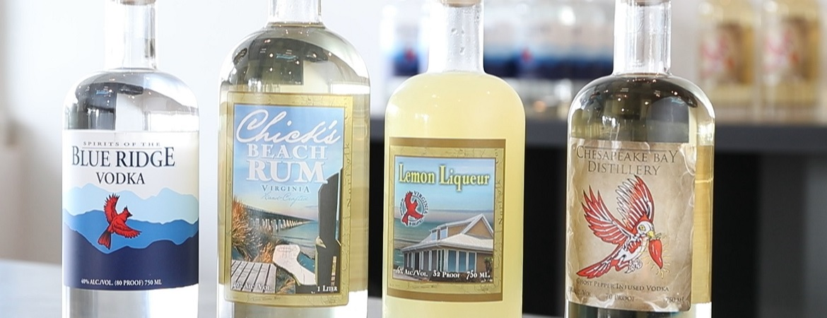 Products from Chesapeake Bay Distillery