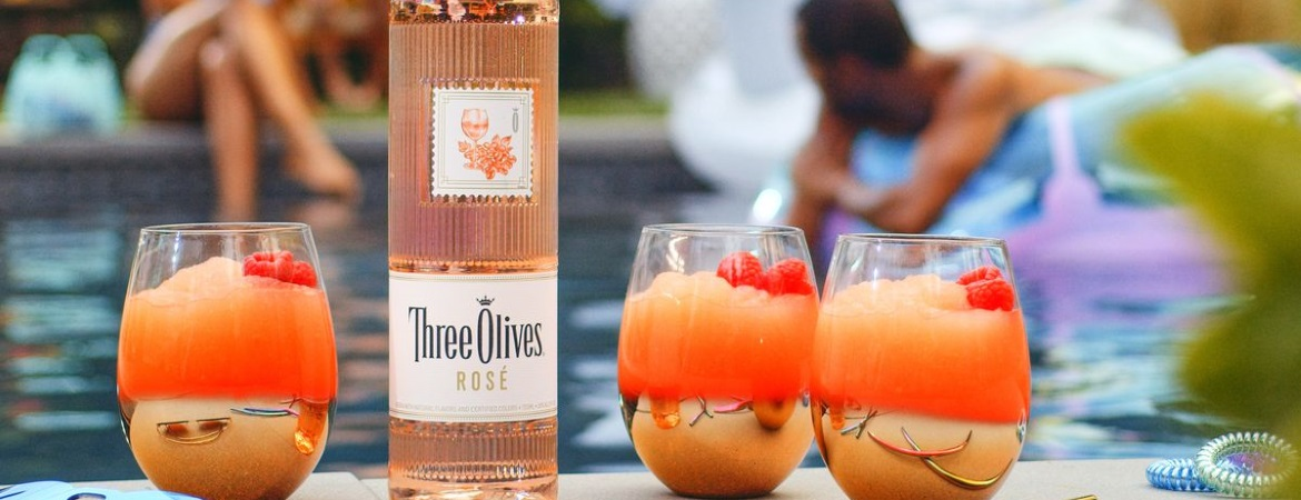 Three Olives Rose Frose Cocktail