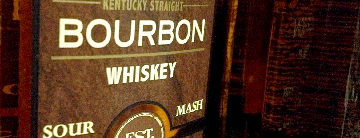 Bourbon bottle label