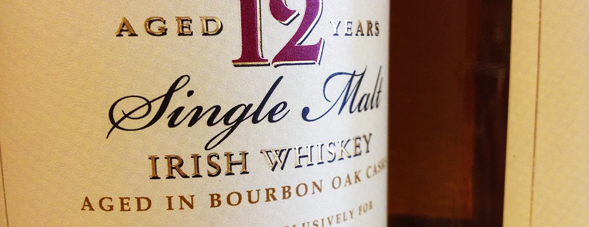 Irish whiskey bottle label
